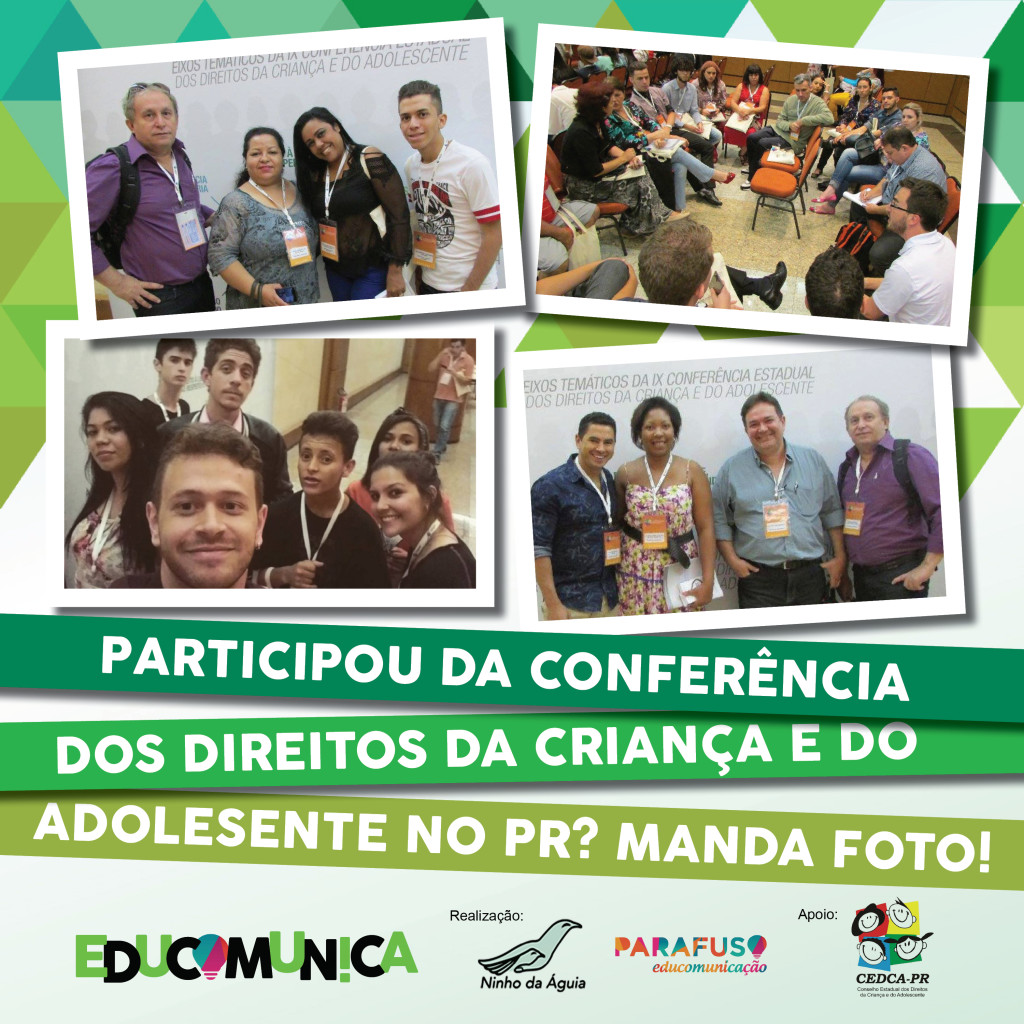 Manda foto pra revista do Educomunica PR